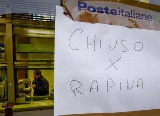 Uffici postali sotto l'attacco del crimine